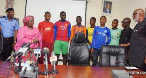 Lagos Police Commissioner, Deputy Governor, Rescued Students with Ondo State Governor - Photo by PremiumTime
