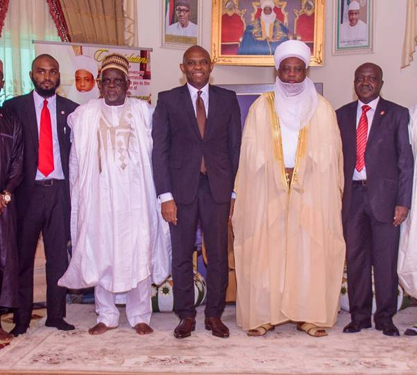 UBA visits Sokoto Tony Elumelu with Sultan