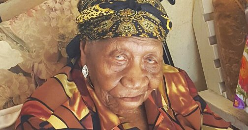 world oldest person violet-brown
