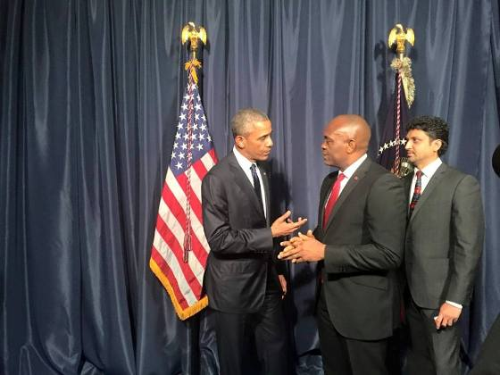 Tony Elumelu and President Obama in Kenya