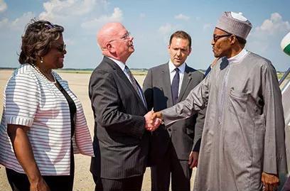 Buhari arrives United States