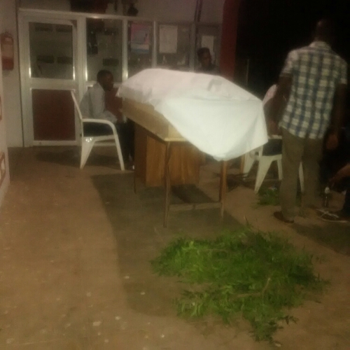 Photo: Benue University Students Dump Colleague's Corpse At VC's Office