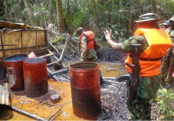 Navy destroys 150 illegal refineries in Rivers, A'Ibom, C'River