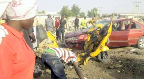 Suicide bomber kills self, destroys 13 vehicles in Borno