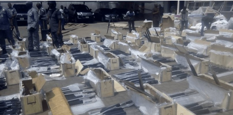 FRESH: Customs intercept 661 pump action rifles in Lagos