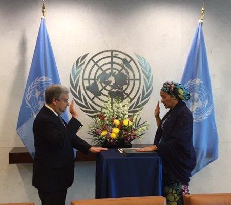 UN Deputy Secretary-General, Amina sworn-in