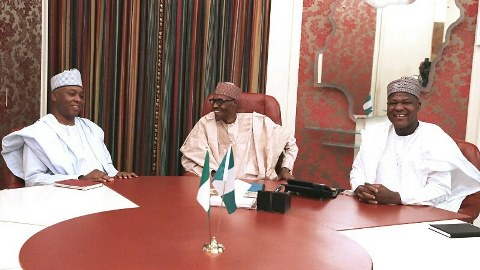 Buhari meets Saraki, Dogara behind close door over herdsmen killings