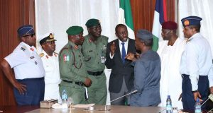 Osinbajo with Service Chiefs