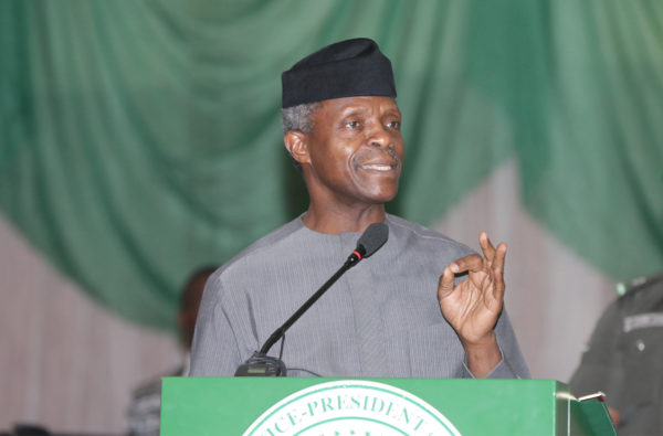 Osinbajo identifies corruption, tribalism and religion as hindrance to development
