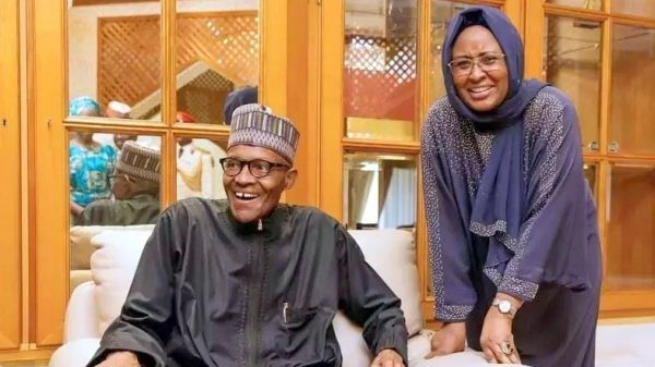 WATCH: Aisha Buhari shares videos ridiculing husband online