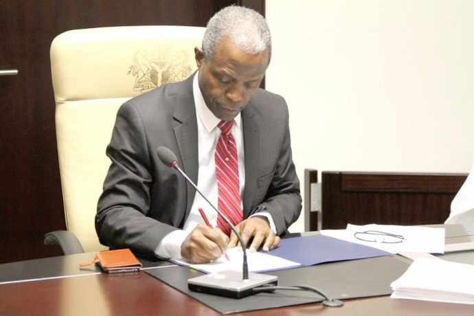 Osinbajo signs two new laws to allow affordable credit facilities, SEE NEW COLLATERAL