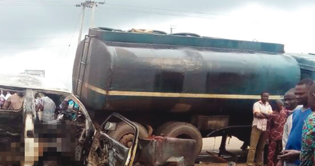 Bus and Tanker Collission accident