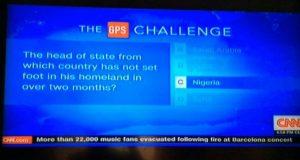 CNN mocks Buhari's absense