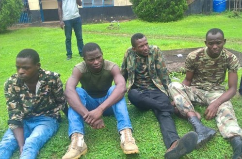 4 fake soldiers arrested, paraded in Benin