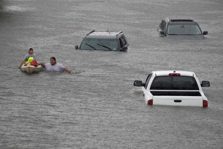 HURRICANE HARVEY covers Houston with with flood (Pictures Inside)