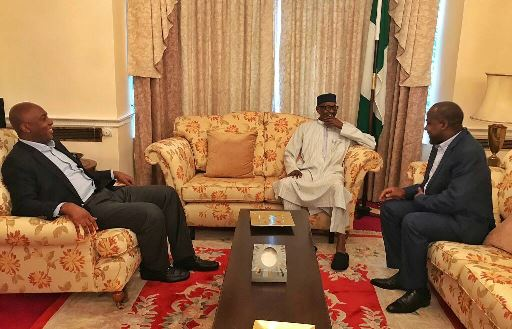 Saraki and Dogara visit Buhari in London