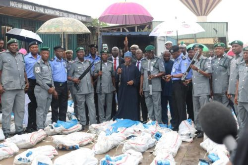 Customs arrest officer, terminal clerk over 1,100 illegally imported rifles