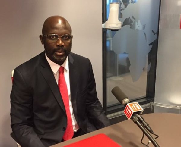 George Weah officially declared president elect [see his journey to presidency], Buhari sends congratulatory message