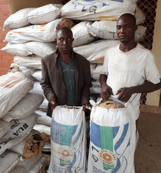 Augustine-Egwutu-and-Gabriel-Orji at the Indian Hemp Warehouse in Edo State