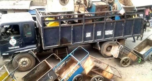 Lagos task force arrests 30 cart pushers