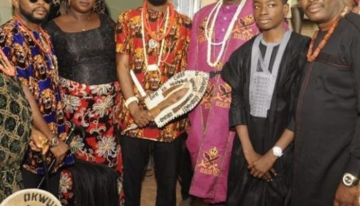 D'banj conferred with chieftaincy title in Imo (Pictures)
