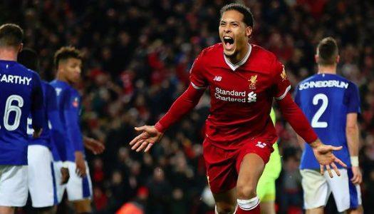 FA Cup Update: Van Dijk helps Liverpool defeat Everton, United beat Derby