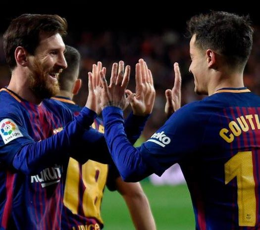 Messi and Coutinho against Valencia