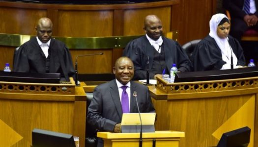 New South African president unveils cabinet