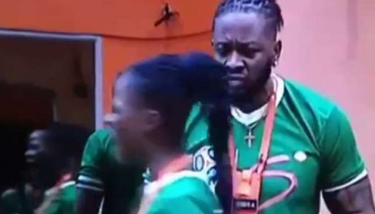 BBNaija housemate Teddy A threatens to kill Khloe as they both fight over piece of meat