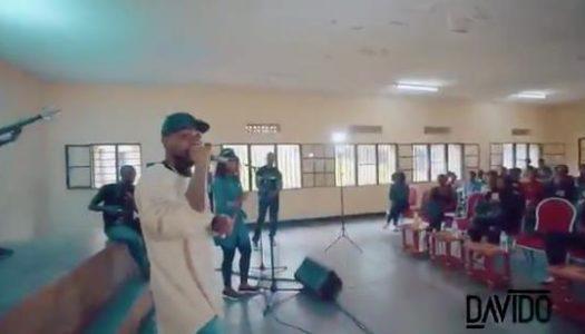 Davido visits music school in Kigali, donates $5000