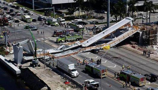 Florida pedestrian bridge collapse leaves four dead
