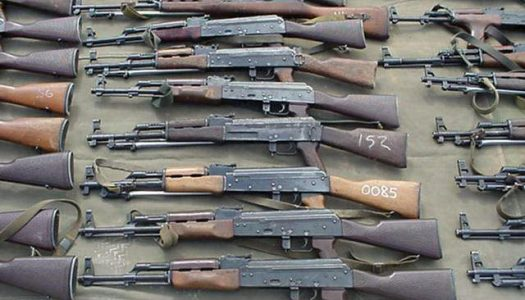 TROUBLE! Nigeria accounts for about 70% of the illegal small arms in W/Africa