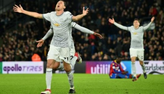 Matic's thunderbolt gives Manchester United a hard-fought victory again Palace
