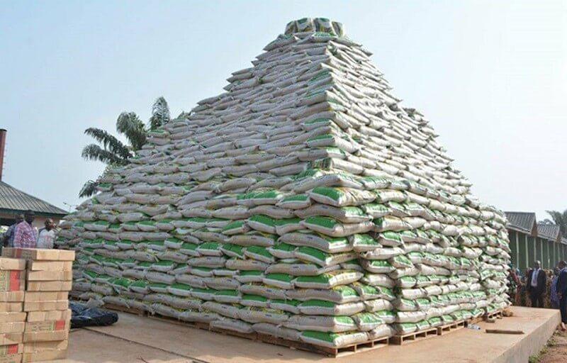 File Photo: Ogun Rice Pyramid