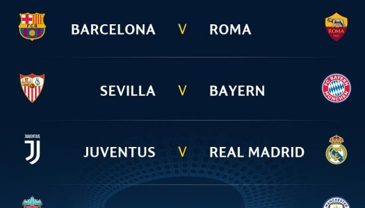 FRESH: UCL Q/Final Draw: Liverpool to face Man City, Juve gets Madrid (FULL DRAW)