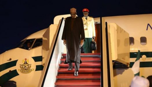 Watch Buhari's return to Nigeria after UK trip
