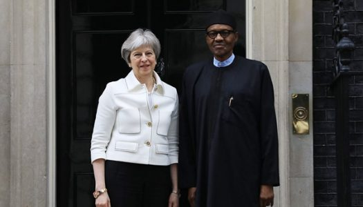 President Buhari holds discussion British Prime Minister, Theresa May