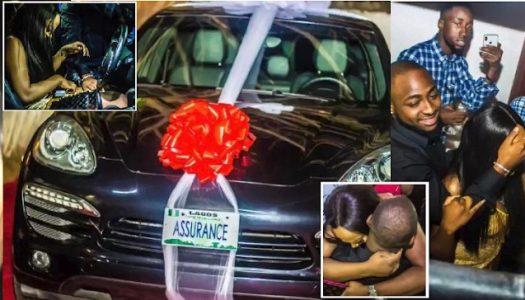 VIDEO: Davido buys Porsche for girlfriend as surprise birthday gift