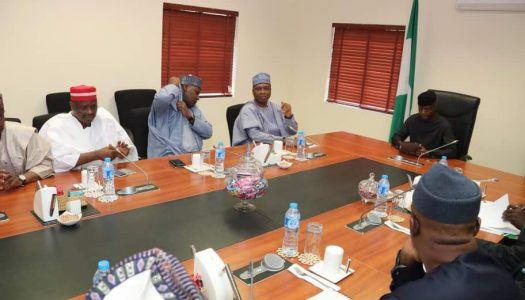 PICTURES: Saraki, other nPDP members hold meeting with Osinbajo, says its too early to say they're not leaving APC