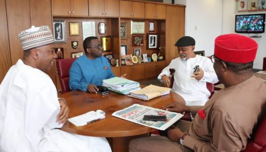Saraki wades into JOHESU strike, meets with Ngige and Adewole