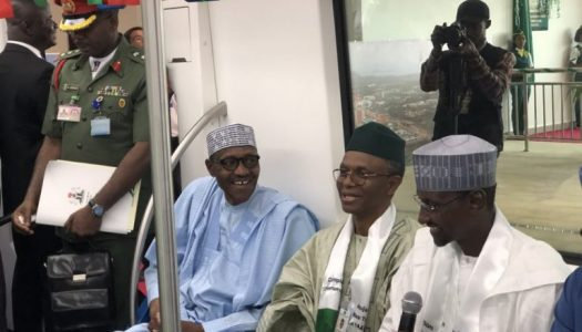 Buhari inaugurates Abuja light rail (Pictures)