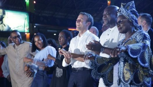 VIDEOS of French President at Afrika Shrine… Says what happens in the shrine remains in the shrine
