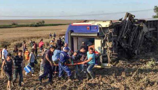 At least ten killed, scores injured in Turkey train derailment