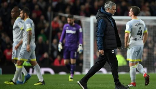 Mourinho in deep water as Lampard's Derby County sends Manchester United out of League Cup