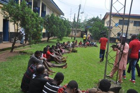 Edo Police Command Parades 72 for cultism, kidnapping, armed robbery