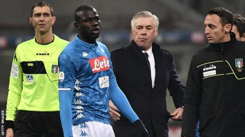 Inter Milan sanctioned for racist chants against Koulibaly