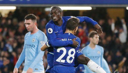 Premier League: Kante, Luiz help Chelsea first defeat on Manchester City