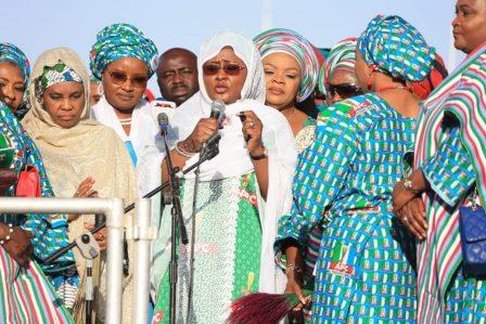 Aisha campaigns for Buhari's re-election in Kano
