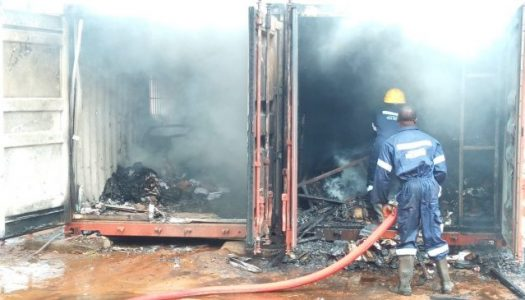 Watch video of how fire destroy 4,695 card readers in Anambra
